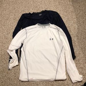2 Under Armour Fitted Heat Gear Med long sleeve